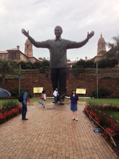 A giant of a man - statue of Mandela in Pretoria